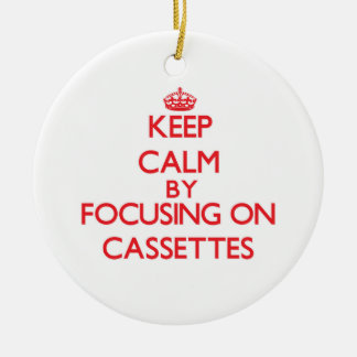 Keep Calm by focusing on Cassettes Christmas Tree Ornaments