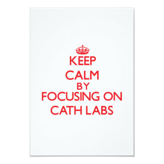 Keep Calm by focusing on Cath Labs Personalized Announcements