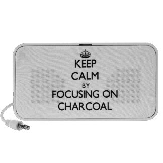 Keep Calm by focusing on Charcoal iPod Speakers