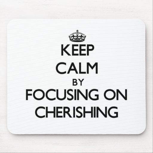 Keep Calm by focusing on Cherishing Mousepads