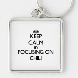 Keep Calm by focusing on Chili Key Chains