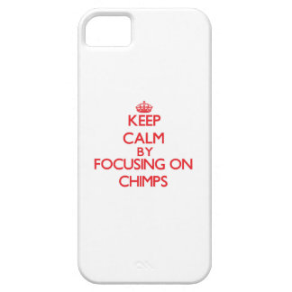 Keep Calm by focusing on Chimps iPhone 5/5S Cover