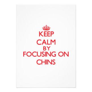 Keep Calm by focusing on Chins Custom Invitation