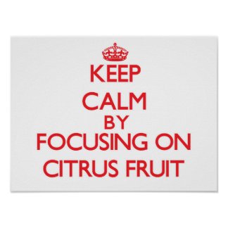 Keep Calm by focusing on Citrus Fruit Posters