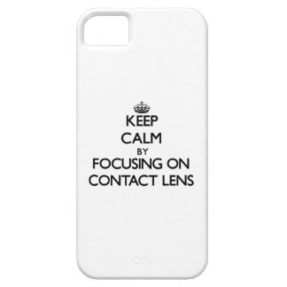 Keep Calm by focusing on Contact Lens iPhone 5/5S Case