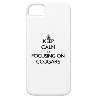 Keep Calm by focusing on Cougars iPhone 5 Case