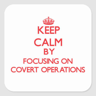 Keep Calm by focusing on Covert Operations Stickers