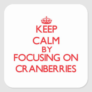 Keep Calm by focusing on Cranberries Square Sticker