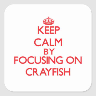 Keep Calm by focusing on Crayfish Square Sticker