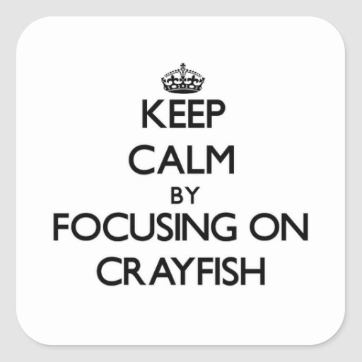 Keep Calm by focusing on Crayfish Stickers