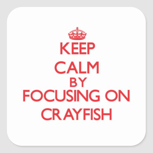 Keep Calm by focusing on Crayfish Sticker
