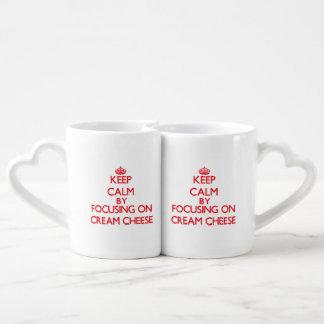 Keep Calm by focusing on Cream Cheese Lovers Mug Set