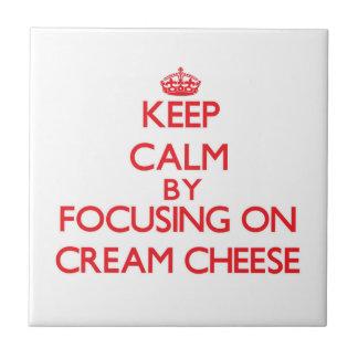 Keep Calm by focusing on Cream Cheese Tiles
