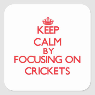 Keep Calm by focusing on Crickets Sticker
