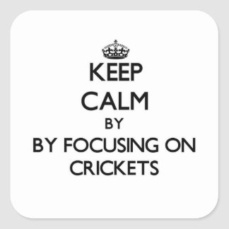 Keep calm by focusing on Crickets Square Sticker