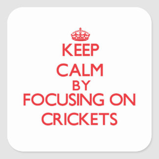 Keep Calm by focusing on Crickets Sticker