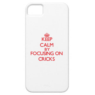 Keep Calm by focusing on Cricks iPhone 5 Cover