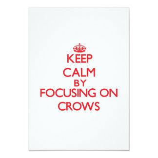 Keep Calm by focusing on Crows Custom Announcement