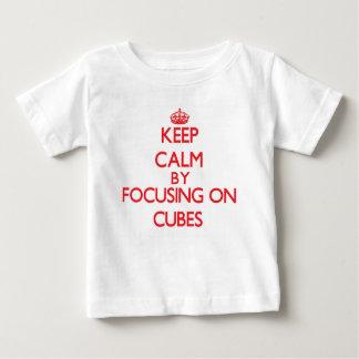 Keep Calm by focusing on Cubes Shirt