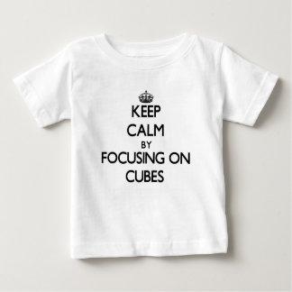 Keep Calm by focusing on Cubes Tee Shirt