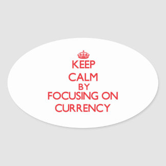 Keep Calm by focusing on Currency Sticker