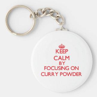 Keep Calm by focusing on Curry Powder Key Chain