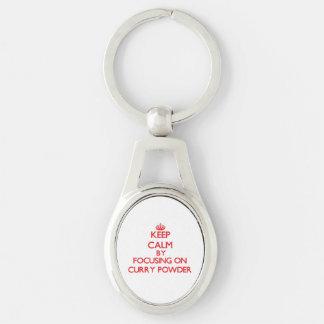 Keep Calm by focusing on Curry Powder Keychain