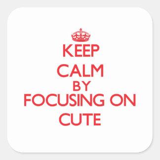 Keep Calm by focusing on Cute Sticker