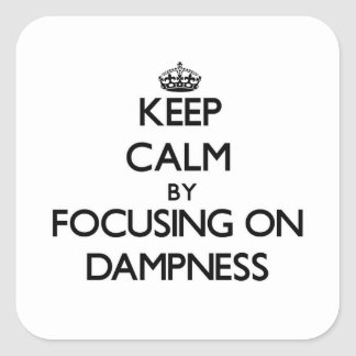 Keep Calm by focusing on Dampness Square Stickers