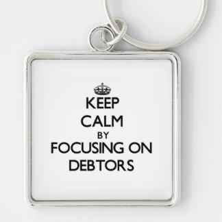 Keep Calm by focusing on Debtors Keychains