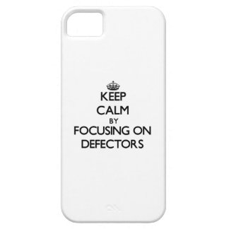 Keep Calm by focusing on Defectors iPhone 5 Case