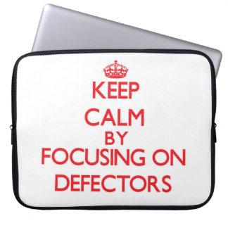 Keep Calm by focusing on Defectors Laptop Sleeves