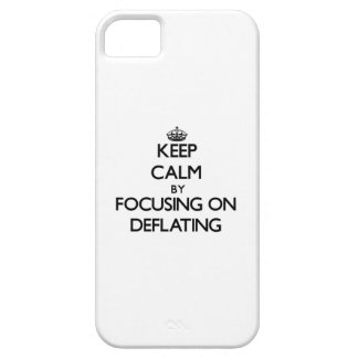 Keep Calm by focusing on Deflating iPhone 5 Cover