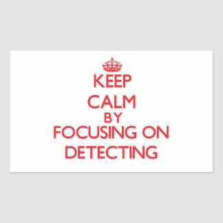 Keep Calm by focusing on Detecting Stickers