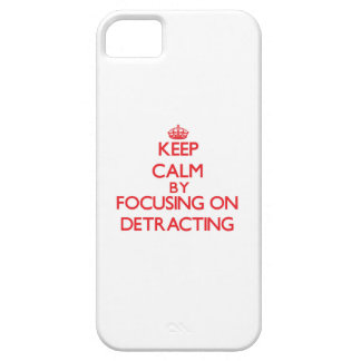 Keep Calm by focusing on Detracting Case For iPhone 5/5S