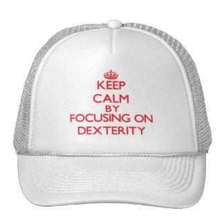 Keep Calm by focusing on Dexterity Mesh Hat