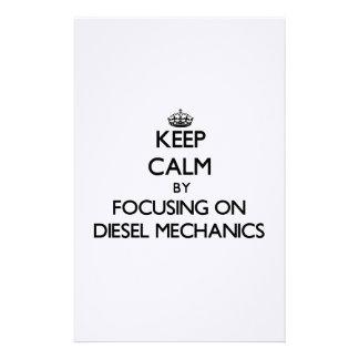 Keep calm by focusing on Diesel Mechanics Custom Stationery