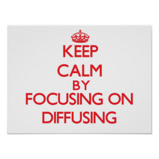 Keep Calm by focusing on Diffusing Print