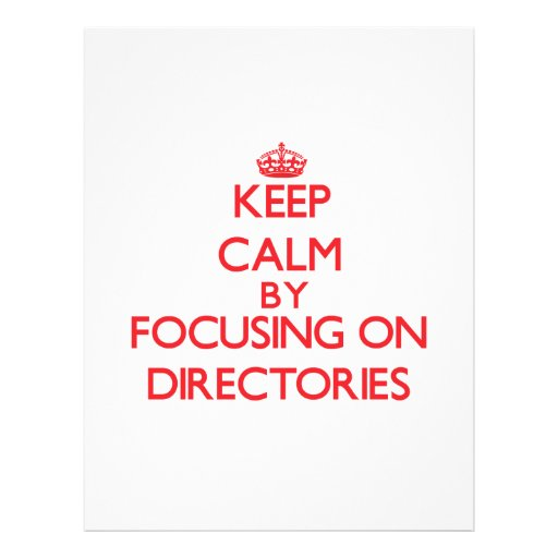 Keep Calm by focusing on Directories Flyer Design