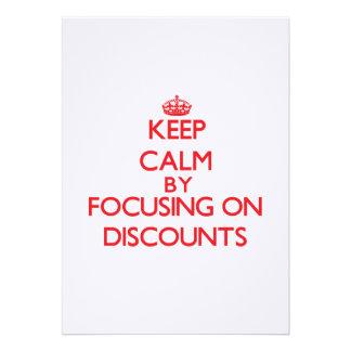 Keep Calm by focusing on Discounts Custom Invitation
