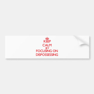 Keep Calm by focusing on Dispossessing Bumper Stickers