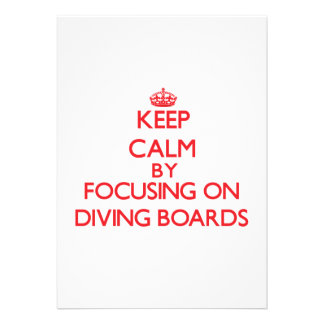 Keep Calm by focusing on Diving Boards Personalized Announcement