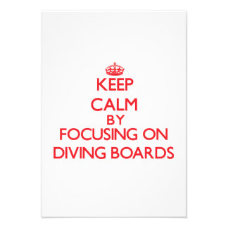 Keep Calm by focusing on Diving Boards Custom Announcement