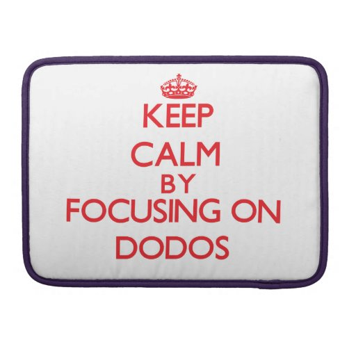 Keep calm by focusing on Dodos Sleeves For MacBook Pro