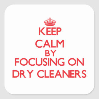 Keep Calm by focusing on Dry Cleaners Stickers