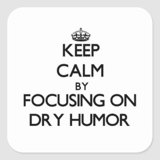 Keep Calm by focusing on Dry Humor Sticker