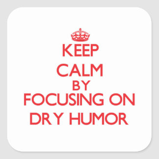 Keep Calm by focusing on Dry Humor Stickers