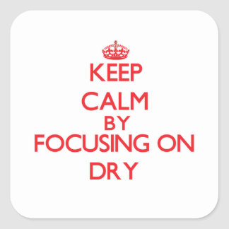 Keep Calm by focusing on Dry Sticker