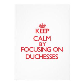 Keep Calm by focusing on Duchesses Card