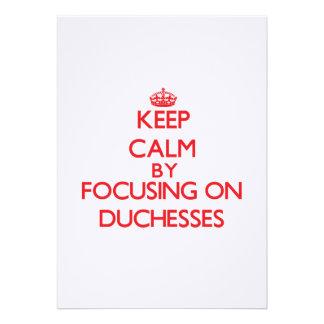 Keep Calm by focusing on Duchesses Custom Announcements